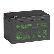 Аккумуляторная батарея (АКБ) BС12-12 (12В 12Ач); габариты 151х98х98 (ДхШхВ, мм)