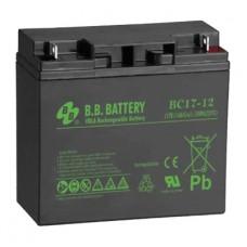 Аккумуляторная батарея (АКБ) BС17-12 (12В 17Ач); габариты 181х76х166 (ДхШхВ, мм)