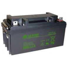 Аккумуляторная батарея (АКБ) BС65-12 (12В 65Ач); габариты 350х166х174 (ДхШхВ, мм)