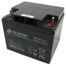 Аккумуляторная батарея (АКБ) BP40-12 (12В 40Ач); габариты 197х165х171 (ДхШхВ, мм)