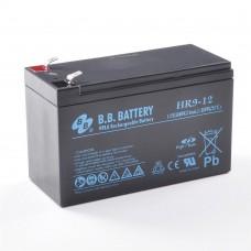 Аккумуляторная батарея (АКБ) BB HR9-12(12В 9Ач); габариты 151х65х100 (ДхШхВ, мм)