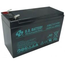 Аккумуляторная батарея (АКБ) BB HRC1234W (12В 9Ач); габариты 151х65х100 (ДхШхВ, мм)