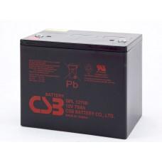 Аккумуляторная батарея (АКБ) CSB GPL12750 (12В 75Ач); габариты 261x168х214,2(ДхШхВ,мм)