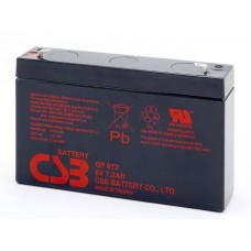 Аккумуляторная батарея (АКБ) GP672 (6В 7,2Ач); габариты 151х34х100(ДхШхВ,мм)