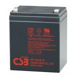 Аккумуляторная батарея (АКБ) CSB HR1221W (12В, 21Вт/яч.); габариты 90х70х106(ДхШхВ,мм)