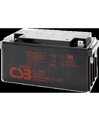 Аккумуляторная батарея (АКБ) GP12650 (12В 65Ач); габариты 349,9х166х174(ДхШхВ,мм)