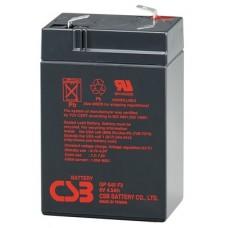 Аккумуляторная батарея (АКБ) CSB GP645 (6В 4,5Ач); габариты 70х48х108(ДхШхВ,мм)
