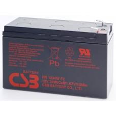 Аккумуляторная батарея (АКБ) CSB HR1234W (12В 34Вт/яч.); габариты 151х65х98,6(ДхШхВ,мм)