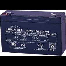 Аккумуляторная батарея DJW6-12 (6В 12Ач); 151х51х100(ДхШхВ, мм)