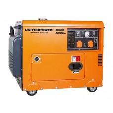 Генератор дизельный UNITED POWER DG5500SE (5,0кВт, однофазный)