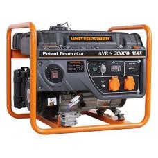 Генератор бензиновый UNITED POWER GG3400E (3кВт, однофазный)